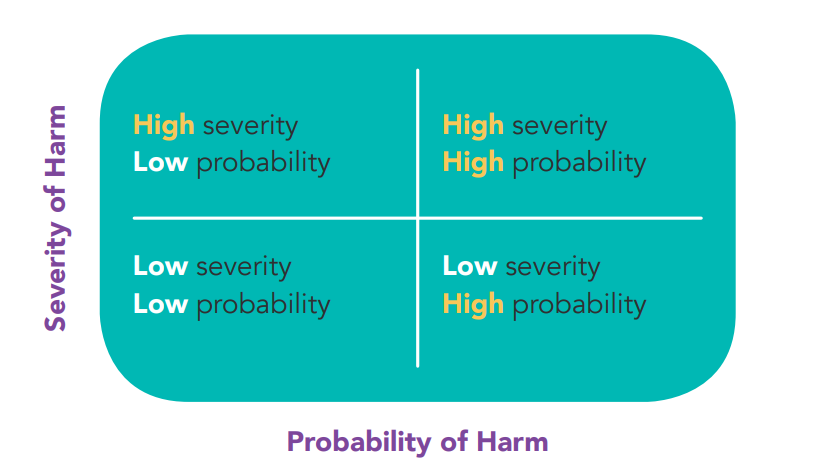 Risk harm matrix